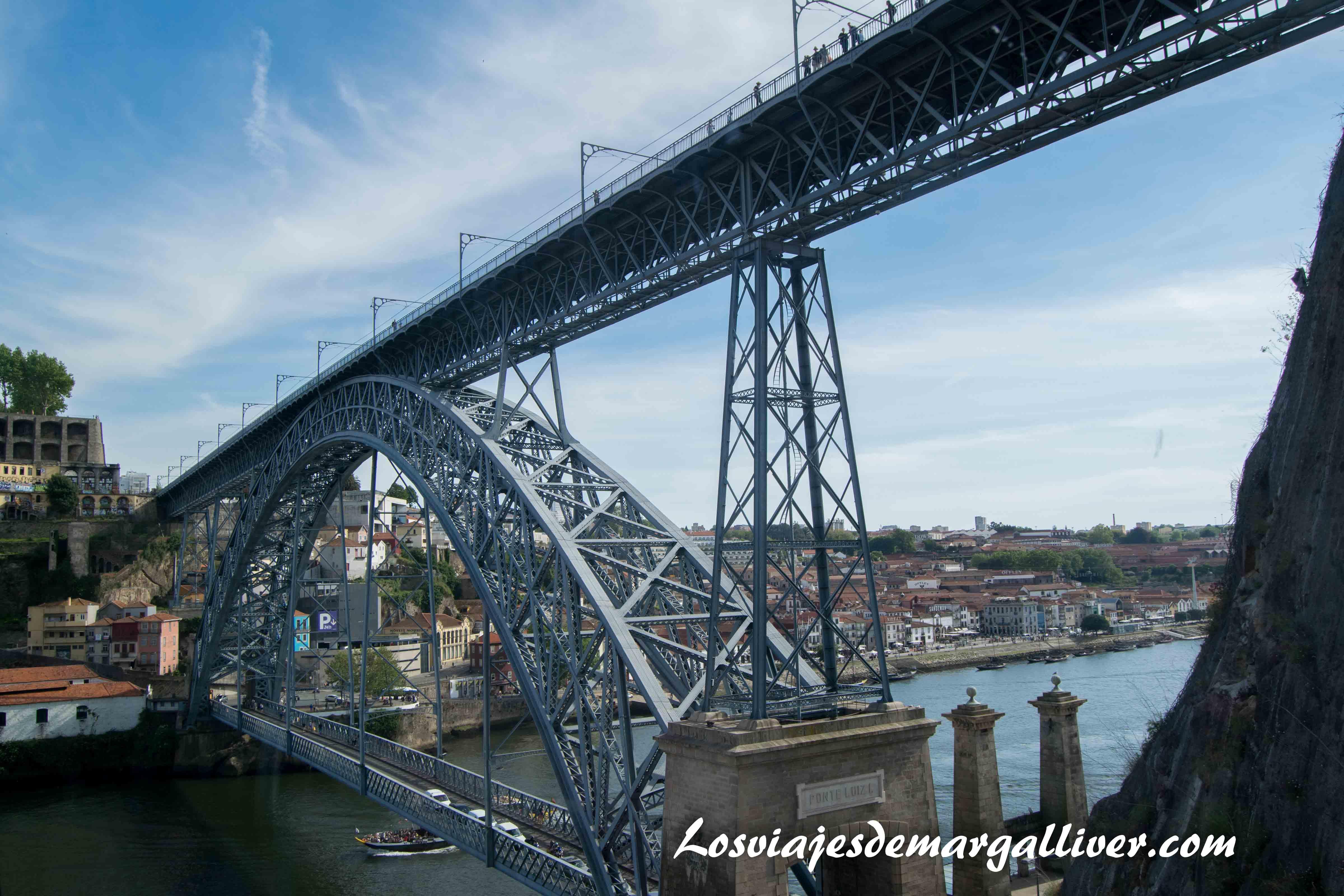 Vista del puente de Luis I desde el Funicular - Los viajes de Margalliver que ver en Oporto